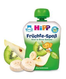 HIPP Плодова закуска круша, банан, киви 6м+ 90 гр.